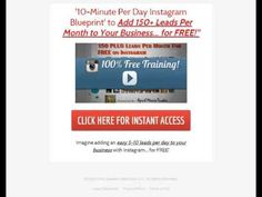 Instagram FREE Training- Market Your Business