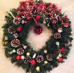 Holiday Christmas Festive Evergreen Wreath #OneOfAKindFloralDesignGifts