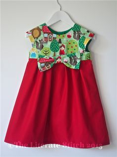 Gorgeous little Red Riding Hood Geranium dress to fit child aged 3 years . (Other sizes are available to order up to age 12 please contact me for ...