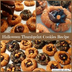 Halloween Thumbprint Cookies Recipe: ingredients, directions, and special baking tips from The Elf to make this easy cookie recipe. Drop Cookies, Cake Mix Cookies, No Bake Cookies, Stuffed Cookies, Baking Cookies, Cupcakes, Best Cake Mix, Drop Cookie Recipes, Cookie Images