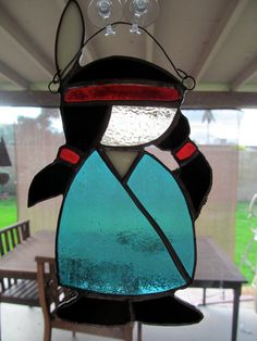 native American stained glass