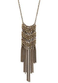 Captivating Cascade Necklace in Brass | Mod Retro Vintage Necklaces | ModCloth.com