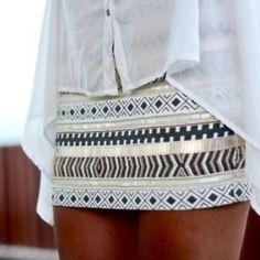 Aztec printed skirt <3