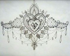jewel female sternum tattoo - Google Search