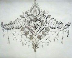 jewel female sternum tattoo - Google Search