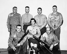 Joan R. Kammer Horton  lone female   17 March 1955 rifle team.