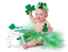 Adalynn's St. Patrick's Day tutu! I'm going to be obsessed with making these now. :)