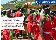 #turkeyevisa Visa fees for #Cameroon £58.99/$86.99 includes evisa-turkey-tr.org's service charge of 18 pounds + #government fees.