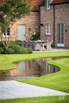 Pond Design, Landscape Design, Garden Design, Garden Park, Garden Cottage, Ponds Backyard, Backyard Landscaping, Natural Swimming Pools, Water Features In The Garden