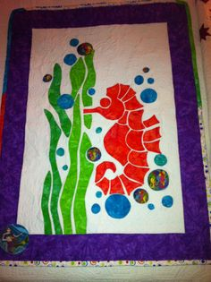 Seahorse quilt for my granddaughter