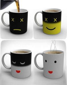Unique Mugs Blending Contemporary Technology into Morning Smiles - this what happens when the liquid is not warm enough...