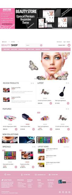 Beauty Shop Responsive. Bootstrap Themes. $25.00