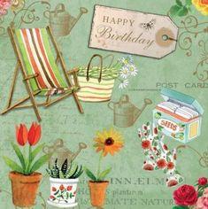 Birthday Gif For Her, Happy Birthday Flower, Birthday Posts, Happy Birthday Images, Birthday Bash, Birthday Signs, Vintage Birthday Cards, Vintage Greeting Cards, Birthday Greeting Cards