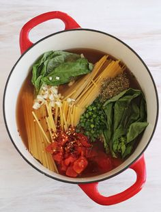 One pan pasta - don't know if it would work with rice noodles....