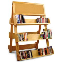 Shelves - A-Frame Display Rack With Six Shelves Constructed From Solid Hardwood and Hardwood Veneer by Catskill | kitchensource.com