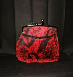 Red Gothic Handbag by FloraMoonDesigns on Etsy