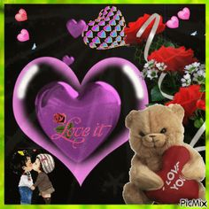 Beautiful Love Pictures, Beautiful Gif, Picmix Gif, L Love You, My Love, Beau Gif, Lovely Good Night, Gifs, Dear Friend
