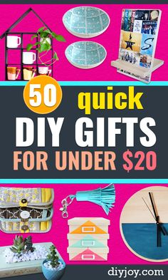 Quick DIY Gifts - Last Minute DIY Gift Ideas for Christmas Presents, Birthday, Anniversary, Friends Diy Gifts Cheap, Diy Gifts To Make, Diy Gifts For Friends, Fun Diy Crafts, Cool Diy Projects, Creative Crafts, Diy Christmas Gifts, Holiday Crafts, Diy Gifts Last Minute