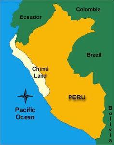 Cultura Chimue: Se desarrollo en el actual departamento de La Libertad, Perú en los años 900 d.c hasta el 1470 d.c. La cultura Chimú estuvo ubicada en el mismo territorio donde siglos atrás prosperaron los Moches, por tanto eran antepasados de los Chimúes). La cultura Chimú se extendió territorialmente desde el departamento de Tumbes por el norte hasta el Valle de Chillón en la parte sur de Lima.