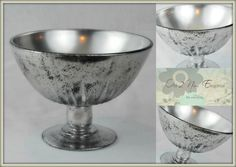 This lovely vintage compote bowl has been hand painted into a beautiful antique mercury glass finish. The bowl was painted & hand rubbed several - Etsy
