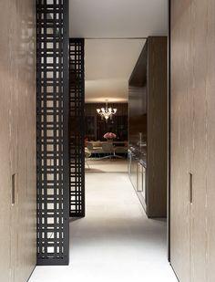 M :: BKH Potts Point Apartment - Great sliding door detail Architecture Details, Interior Architecture, Door Design, House Design, Hall Design, Interior Decorating, Interior Design, Interior Exterior, Windows And Doors