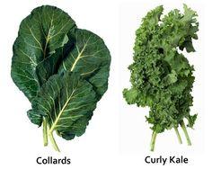 13) collard greens, kale