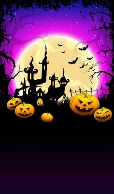Happy Halloween, Fröhliches Halloween, Purple Halloween, Halloween Cartoons, Halloween Painting, Halloween Pictures, Holidays Halloween, Halloween Themes, Halloween Decorations