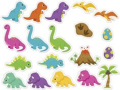 Die Dinos Baby, Baby Dinosaurs, Dinosaur Birthday Cakes, Dinosaur Party, 2nd Birthday Parties, Birthday Party Decorations, Dragon Party, Baby Party, Clip Art