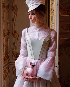 """Behind the scenes of Ulyana Sergeenko Spring-Summer 2016 showroom in Paris  Phcred: @anna.mar.photo #ulyanasergeenko #ulyanasergeenkocouture #couture…"""