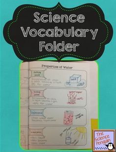 Science Vocabulary Folder Freebie - This file includes 20 pages of terms. At the end of the file, there is an editable page where you can type your own terms in a text box to customize it for your students' needs.