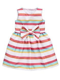 f8634de029fe Ladybird Girls Stripe Bow Dress