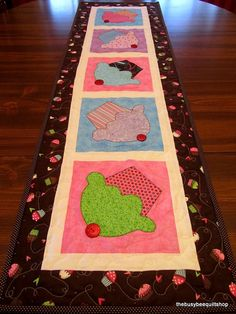 Cupcake Party PDF Downloadable Tablerunner Quilt Pattern