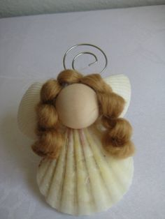 Sea Shell Christmas Angel Ornament by christinaspot on Etsy, $3.00