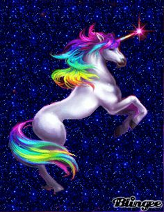 Unicorns and Rainbows | beautiful rainbow unicorn tags blue rainbow sparkle unicorn