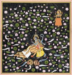 Vishnu killing a demon