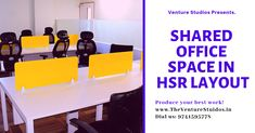 #shared_office_space_in_hsr_layout_bangalore #office_space_for rent_in_bangalore_for_startups #the_venture_studios_hsr_layout Office Admin, Shared Office, Power Backup, Best Places To Work, Residential Complex, Site Visit, Office Setup, Call Backs, Coworking Space
