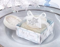 Let it Snow Snowflake Soap Favors from Wedding Favors Unlimited