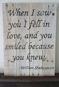 Shakespeare Barnwood Sign by MsDsSigns on Etsy, $25.00