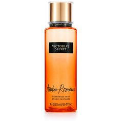Victoria's Secret Amber Romance Fragrance Mist (830 DOP) ❤ liked on Polyvore featuring beauty products, fragrance, orange and spray perfume