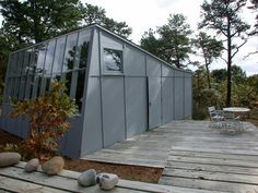 Marcel Breuer, Serge Chermayeff, Walter Gropius, and Eero Saarinan all built houses on outer Cape Cod in the fifties and sixties. Painter James Lechay (190