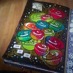 Daily art journal 58/365 #art #artjournal #artjournaling #artjournalpage #createeveryday #arteveryday #color #colour #draw #sketch #gelpens #acrylicpaint #doodle #doodling #journal #layers #mixedmedia #mixedmediaartist #mixedmediaart #paint #pens