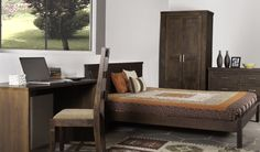 Tahoe Espresso Bedroom : The old rustic feel of the Nostalgic past.  To buy click - http://www.inliving.com/tahoe-espresso-queen-bed