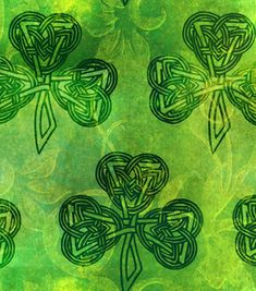 Celtic Shamrock Fabric for your #homedecor. Visit Joann.com or JoAnn Fabric and Craft stores for supplies.