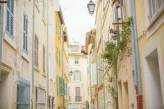 streets and architecture of Marseille, France