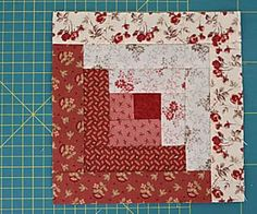38 Free Log Cabin Quilt Patterns - Two Tone Log Cabin Quilt Block - Log Cabin Patchwork, Log Cabin Quilt Pattern, Log Cabin Quilts, Crazy Patchwork, Log Cabins, Strip Quilts, Easy Quilts, Quilt Blocks, Quilting Projects