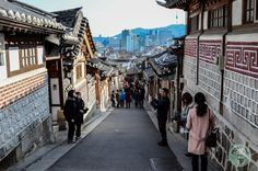 Explore the historical side of Seoul, South Korea by visiting Bukchon  The streets of Bukchon  Travel Hanok Village Photo