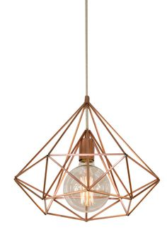 Himmeli Light Diamond Cage pendant Geometric Copper  matte Chandelier  Industrial Pink Gold Original Himmeli Art Panselinos
