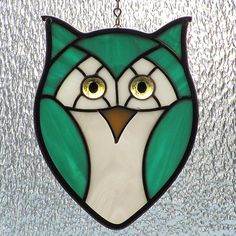Teal Green Stained Glass Owl by livingglassart home of oddballs and oddities, via Flickr
