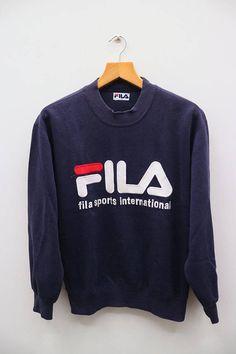 FILA Sports International Big Logo Sportswear Blue Vintage c5882fee294