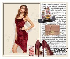 016bd771 Lulus Dazzle Darling Rose Gold Sequin Off-the-Shoulder Skater Dress ($58) ❤  liked on Polyvore featuring dresses, pink, pink dress… | My Polyvore Finds  ...
